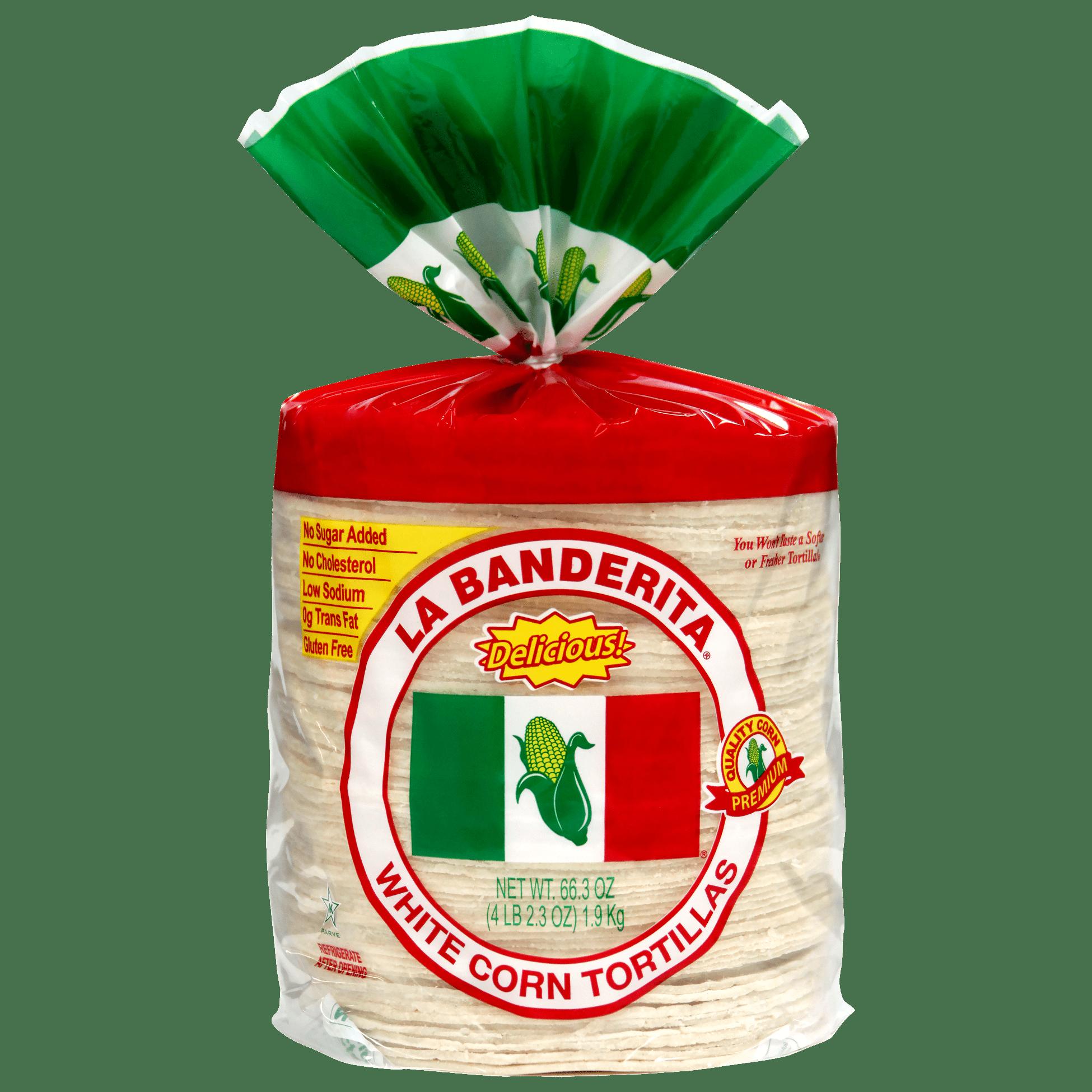 0105 - La Banderita White Corn - Front