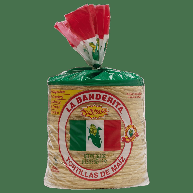 0105Y - La Banderita Yellow Corn - 80ct - Front-min