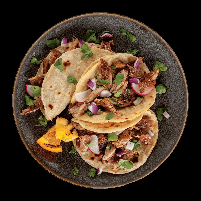 0127 - La Banderita Street Taco Corn - Dish