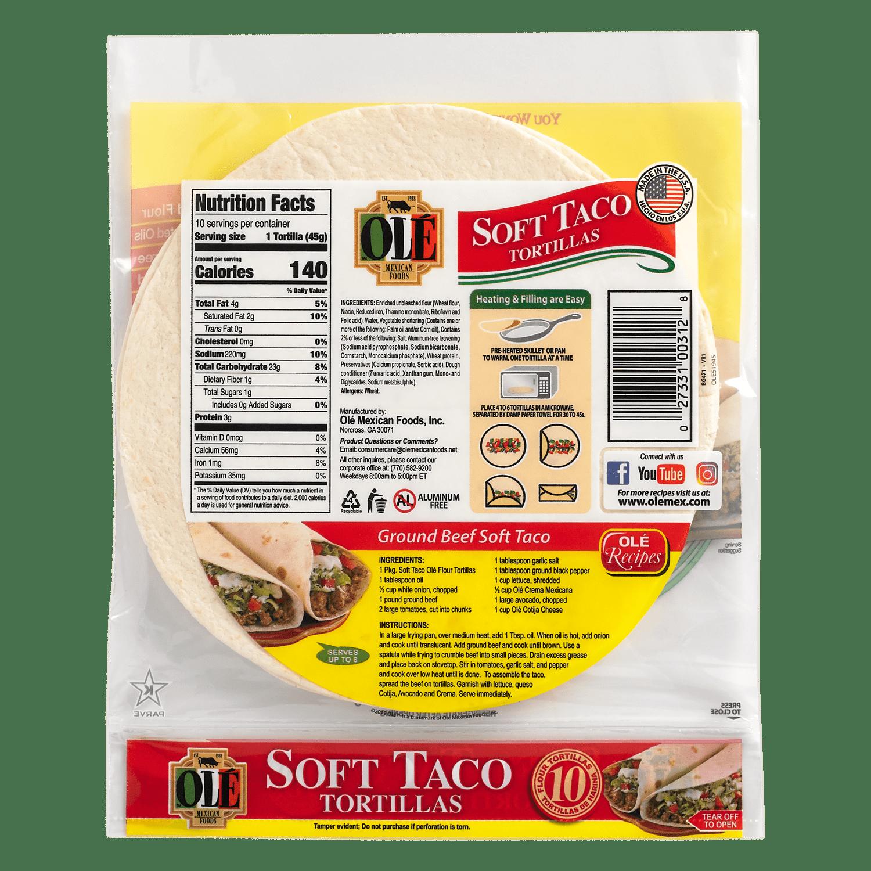 0166 - Ole Soft Taco - Back-min