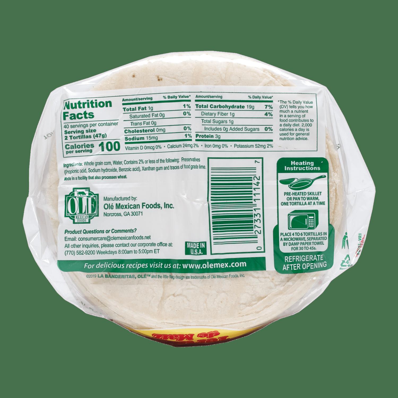 1142 - La Banderita Sabrosisima Corn 80ct - Back-min