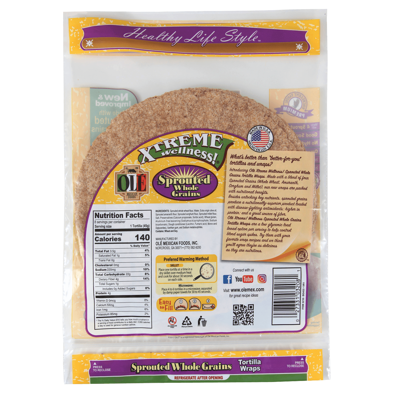 3218 - Xtreme Sprouted Grains - Back