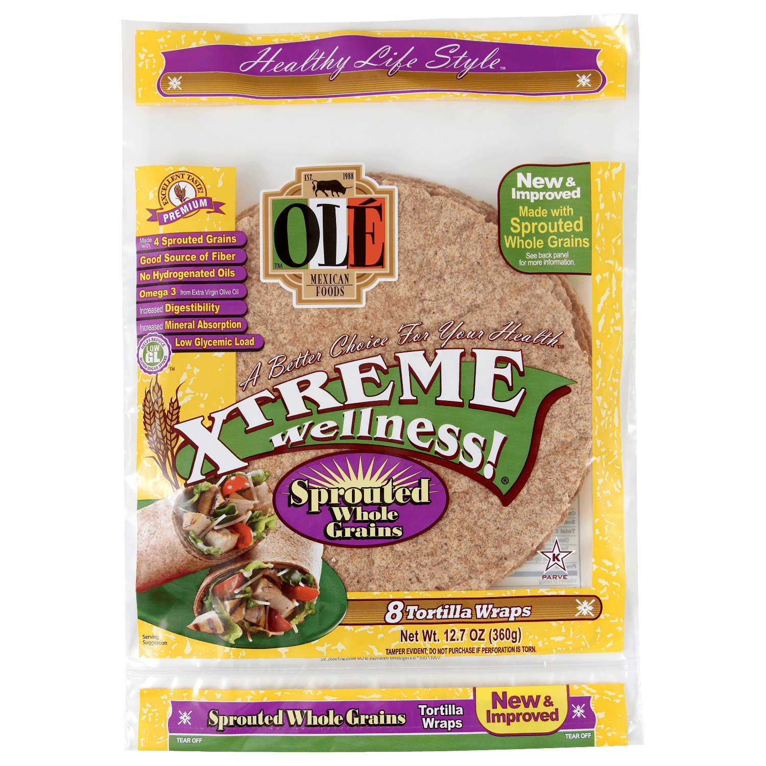 3218 - Xtreme Sprouted Grains - Front