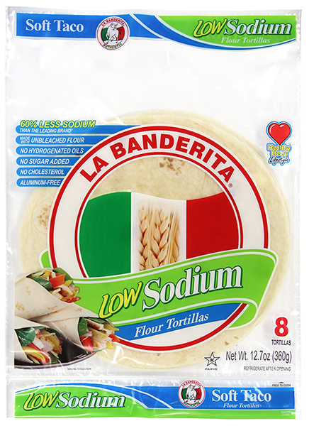 Low Sodium Flour Tortillas