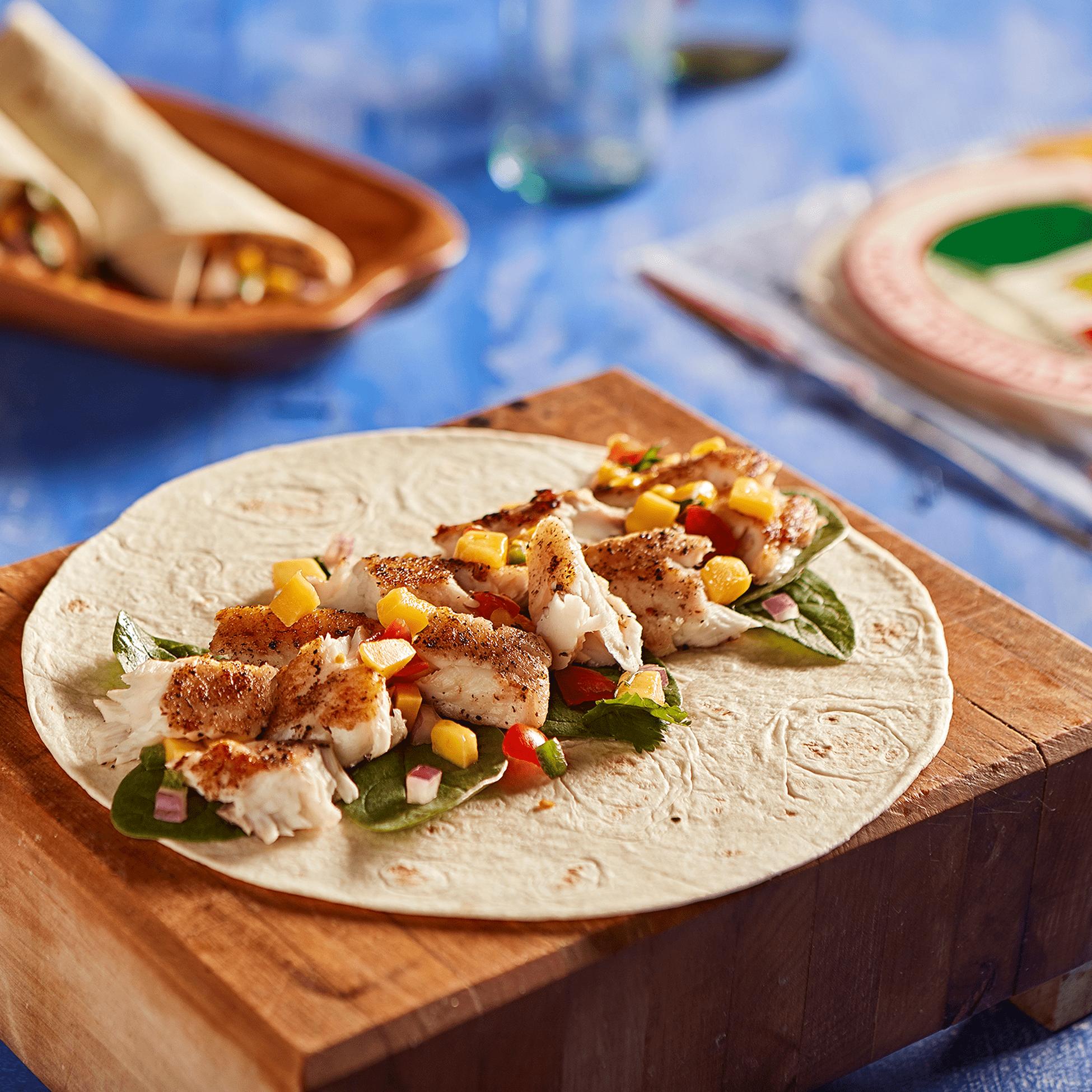 0110 La Banderita Soft Taco- Dish