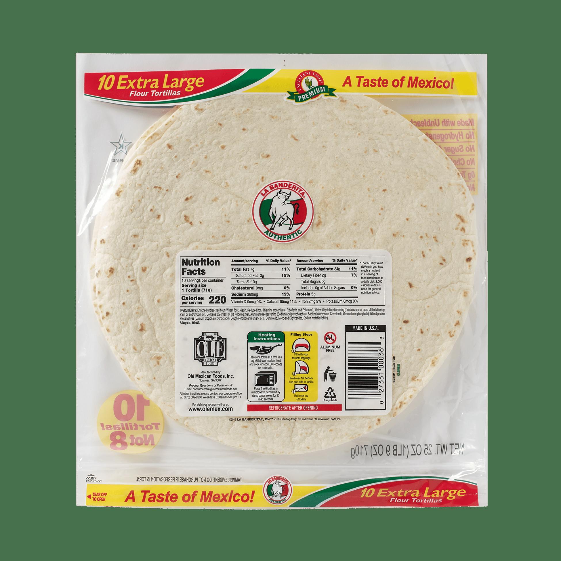 La Banderita Burrito Grande - Back