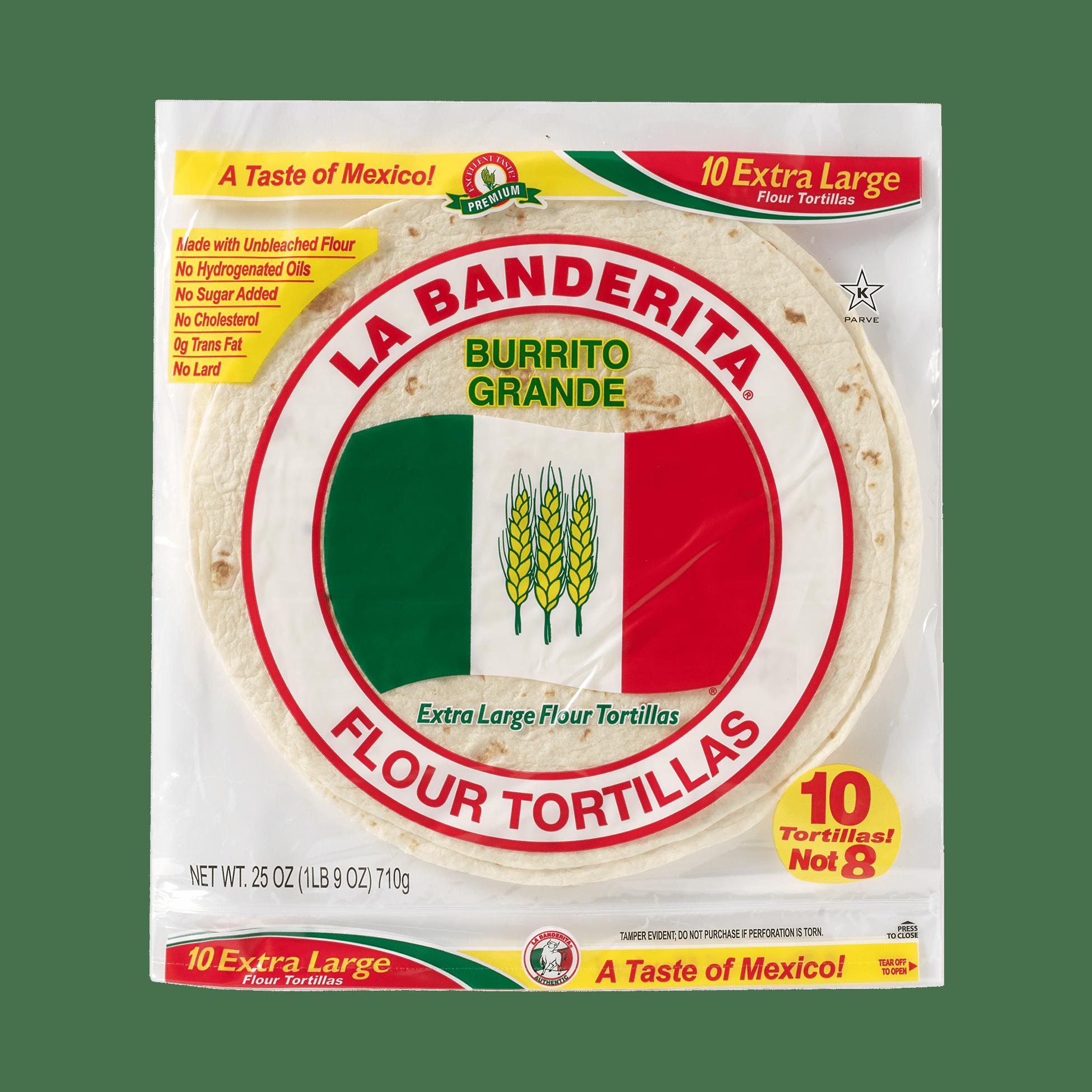 La Banderita Burrito Grande - Front