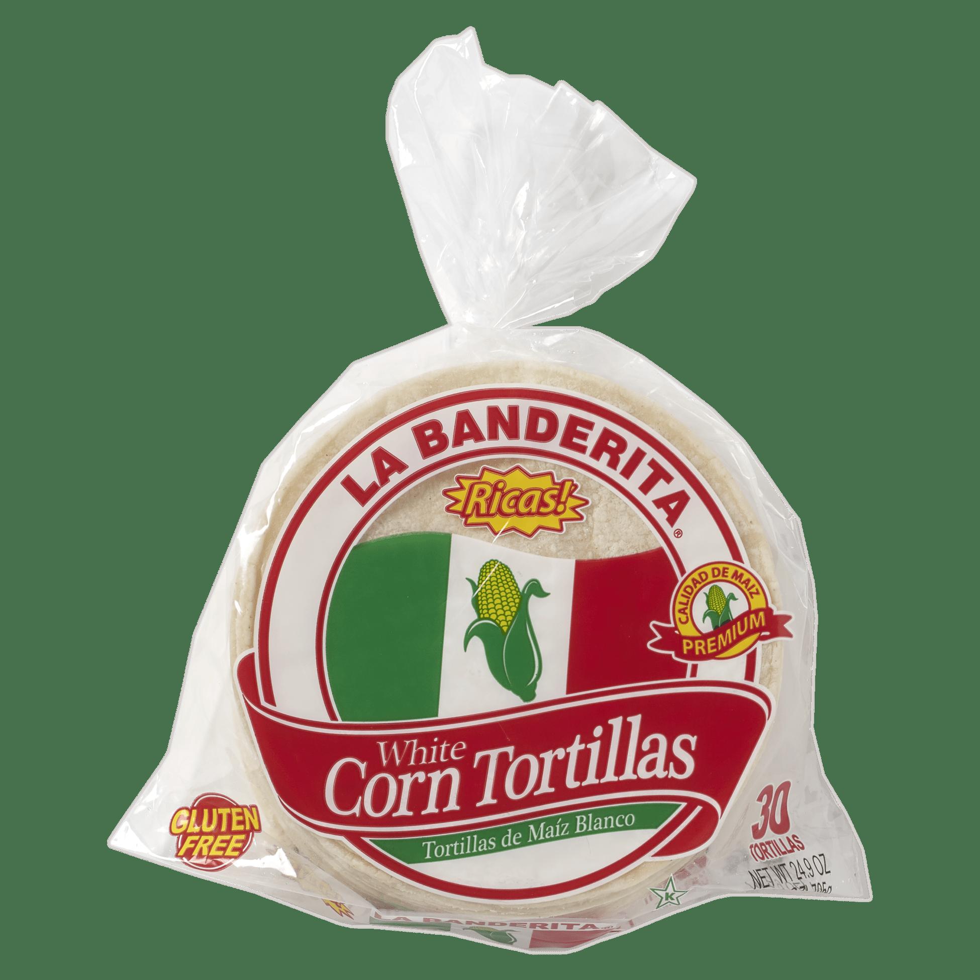 La Banderita White Corn 30ct - Front