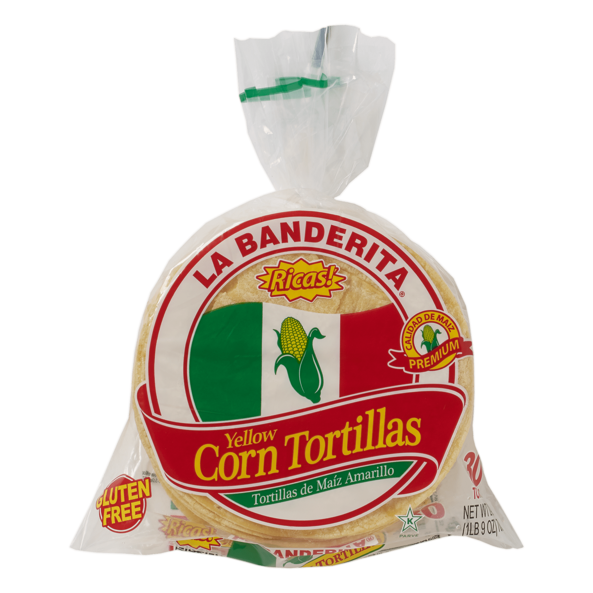 La Banderita Yellow Corn 30ct - Front