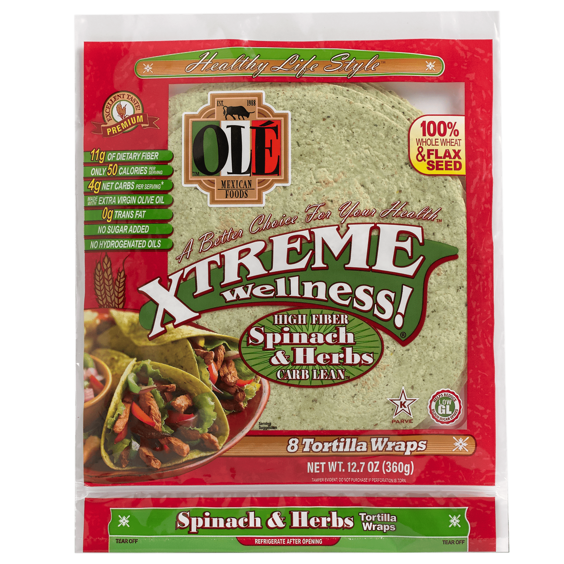 Xtreme Spinach & Herbs - Front