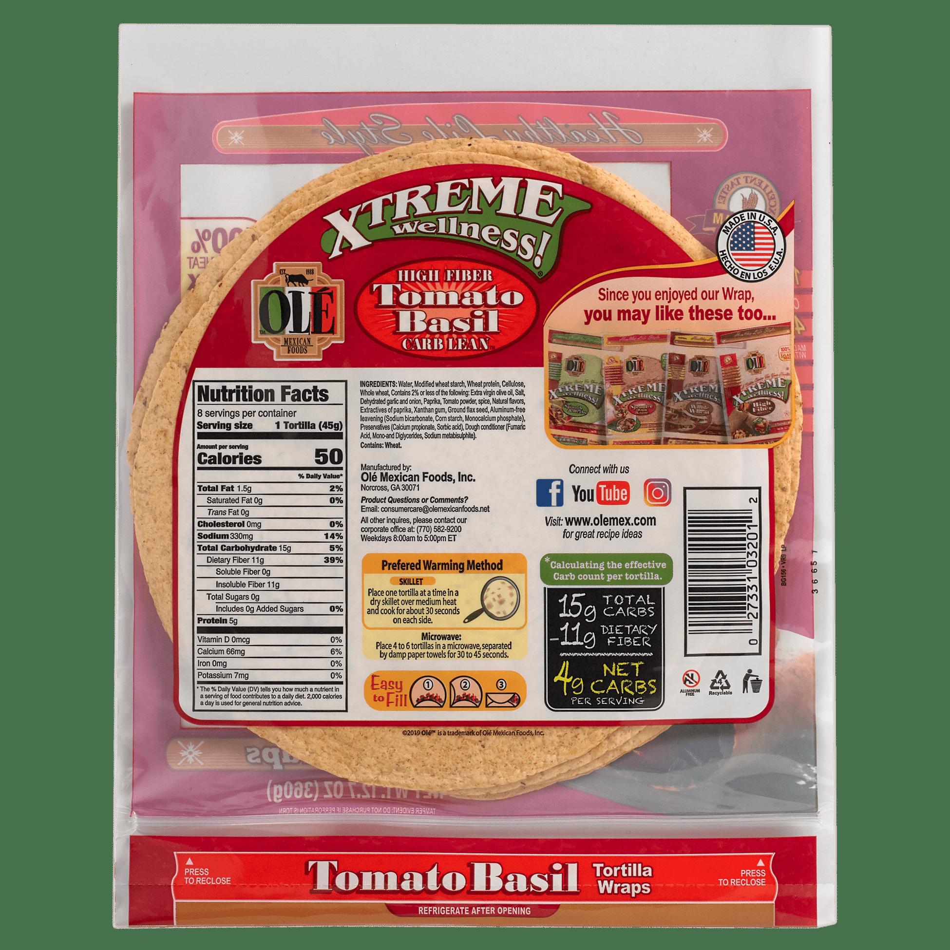 Xtreme Tomato & Basil - Back